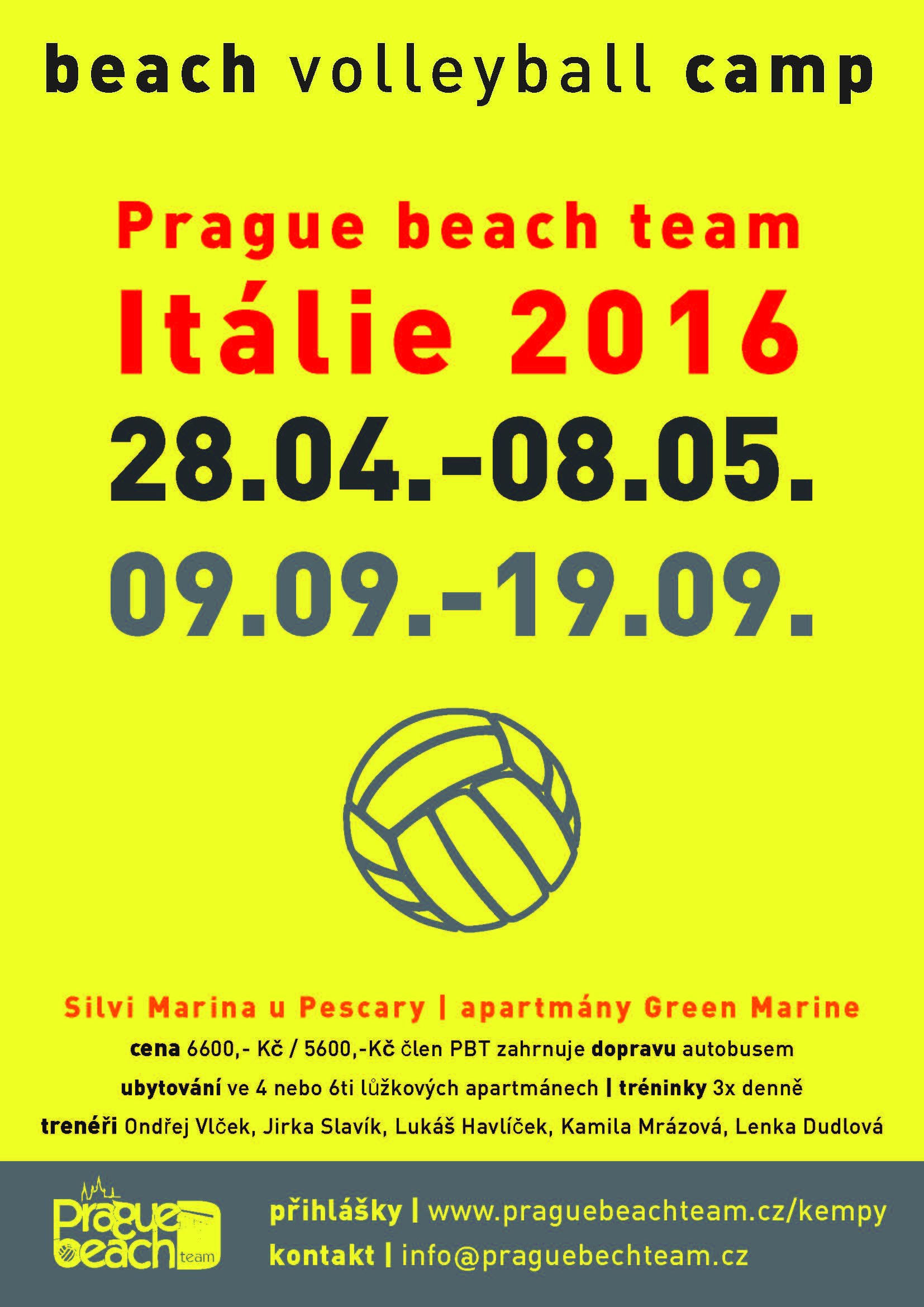 Itálie 2016 Prague beach team